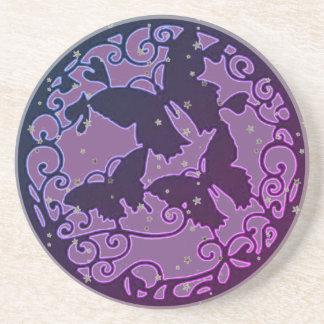 Dessous De Verre En Grès Le métal aiment le papillon pourpre
