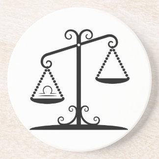 Dessous De Verre En Grès l'équilibre de Balance mesure l'horoscope