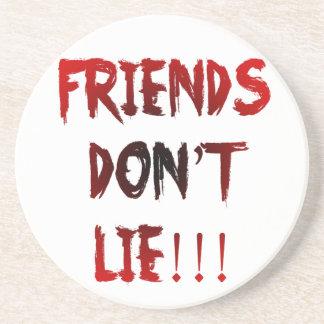 Dessous De Verre En Grès Les amis ne se trouvent pas !