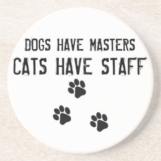 Dessous De Verre En Grès Les chiens ont des chats de maîtres avoir la