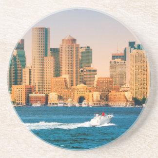 Dessous De Verre En Grès Les Etats-Unis, le Massachusetts. Panorama de bord