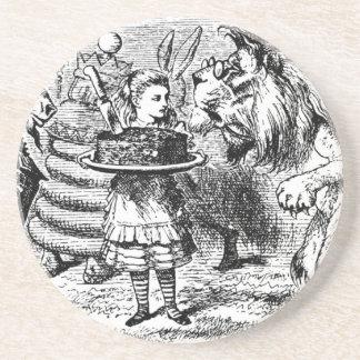 Dessous De Verre En Grès Licorne et lion