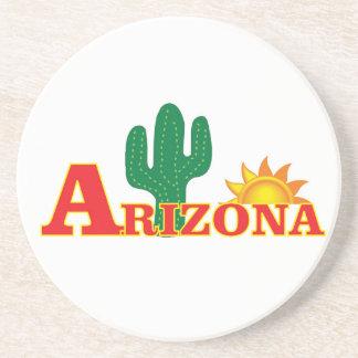Dessous De Verre En Grès Logo de l'Arizona simple