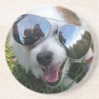 Dessous De Verre En Grès Lunettes de soleil l'AVENIR LUMINEUX de chien pour
