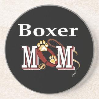 Dessous De Verre En Grès Maman de boxeur