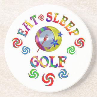 Dessous De Verre En Grès Mangez le golf de sommeil