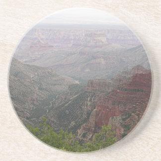 Dessous De Verre En Grès Matin brumeux de canyon grand, Arizona