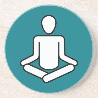 Dessous De Verre En Grès Méditation-logo