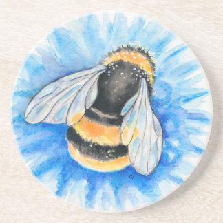 Dessous De Verre En Grès Mignon gaffez l'art d'aquarelle d'abeille