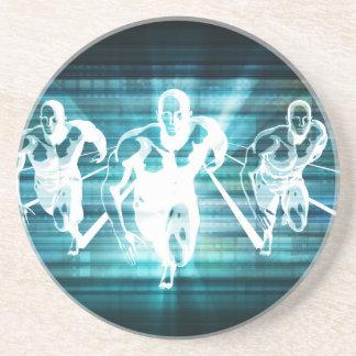 Dessous De Verre En Grès Mobilité d'entreprise et un concept de technologie