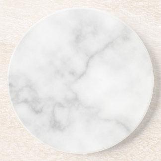 Dessous De Verre En Grès Motif de marbre blanc élégant chic