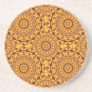 Dessous De Verre En Grès Motif d'or de mandalas
