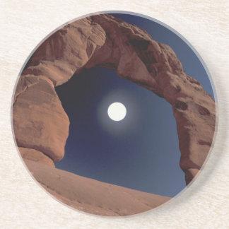 Dessous De Verre En Grès Na, Etats-Unis, Utah, arque le parc national.