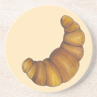Dessous De Verre En Grès Nourriture d'or floconneuse de beurre de