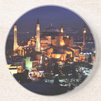 Dessous De Verre En Grès Nuit de Hagia Sophia