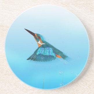 Dessous De Verre En Grès Oiseau de martin-pêcheur