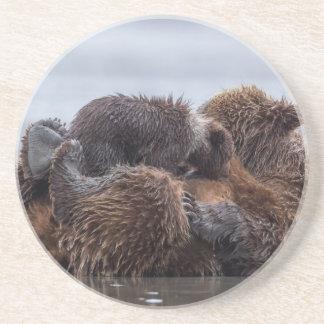Dessous De Verre En Grès Ours de Brown et petits animaux 2