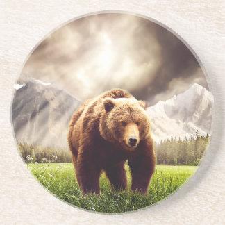 Dessous De Verre En Grès Ours de montagne