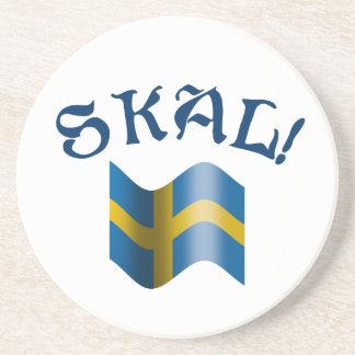 Dessous De Verre En Grès Pain grillé potable suédois de Skal avec le