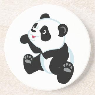 Dessous De Verre En Grès panda de bande dessinée