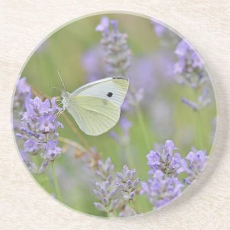 Dessous De Verre En Grès Papillon de blanc de chou