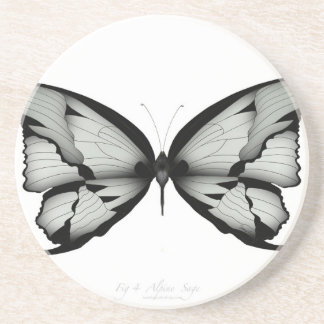 Dessous De Verre En Grès Papillon sage alpin