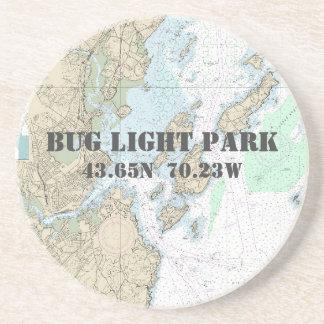 Dessous De Verre En Grès Parc léger d'insecte, diagramme authentique de