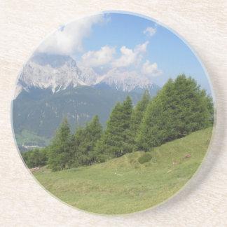 Dessous De Verre En Grès Paysage alpin