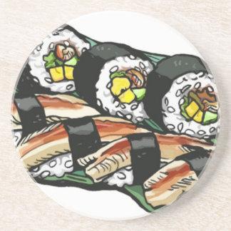Dessous De Verre En Grès Petit pain de sushi