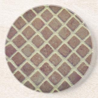 Dessous De Verre En Grès Petits carrés en céramique
