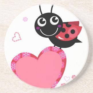 Dessous De Verre En Grès Peu d'heureux d'abeille de vol blackred