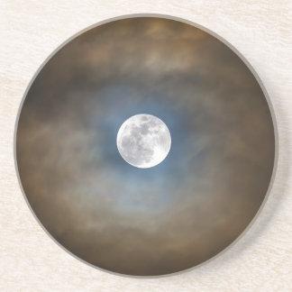 Dessous De Verre En Grès Pleine lune dans les nuages