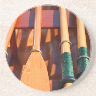 Dessous De Verre En Grès Port Townsend, festival en bois de bateau