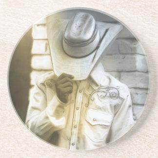 Dessous De Verre En Grès Portrait de cowboy