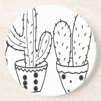 Dessous De Verre En Grès pot de cactus