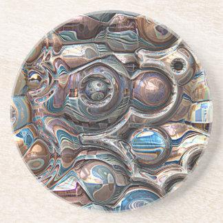 Dessous De Verre En Grès réflexions 3D de cuivre