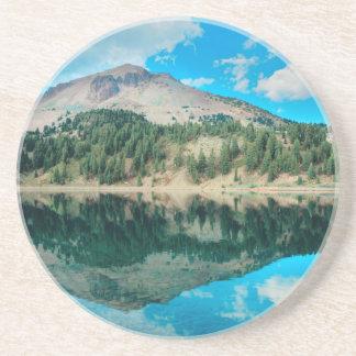 Dessous De Verre En Grès Réflexions sur le lac Hélène