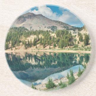 Dessous De Verre En Grès Réflexions sur le lac Hélène 2