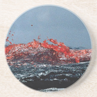 Dessous De Verre En Grès Rivière de magma