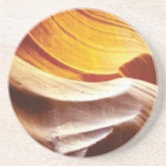 Dessous De Verre En Grès roches bronzages du soleil d'orange