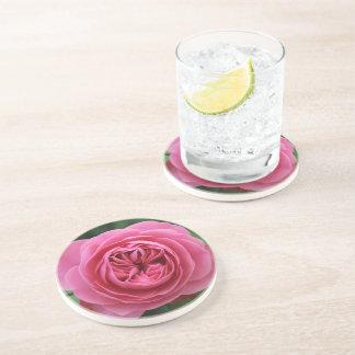Dessous de verre en grès Rose Macro