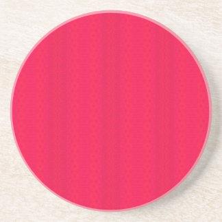 Dessous De Verre En Grès rose rouge