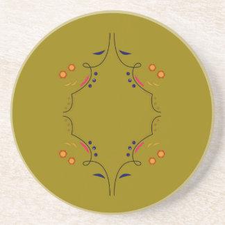 Dessous De Verre En Grès Sable de beige de mandala