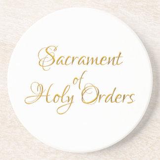 Dessous De Verre En Grès Sacrement du regard 3D d'or d'ordres saints