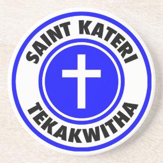 Dessous De Verre En Grès Saint Kateri Tekakwitha