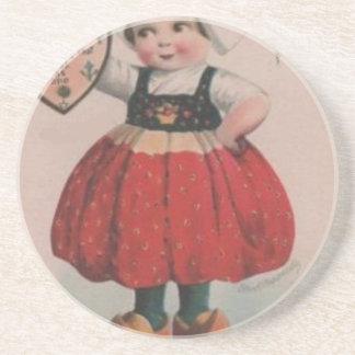 Dessous De Verre En Grès Saint-Valentin victorienne de fille néerlandaise