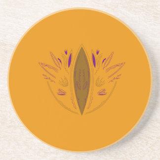 Dessous De Verre En Grès Santé de conception de mandala de sable