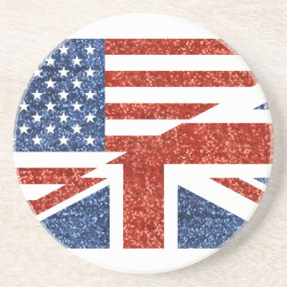 Dessous De Verre En Grès scintillement Etats-Unis britannique