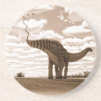 Dessous De Verre En Grès Sépia Gregory Paul de brontosaure de dessous de