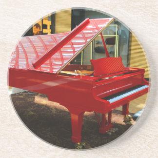 Dessous De Verre En Grès Simplement rouge : piano à queue